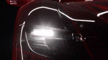 Ferrari hybrid supercar headlight
