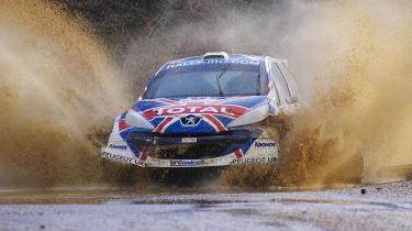Peugeot 207 S2000 rally car