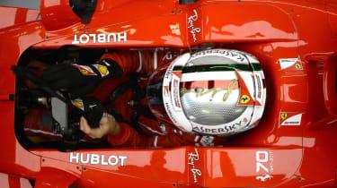 Formula One Round 13 - Ferrari cockpit