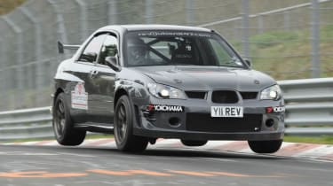 Revolution Subaru Impreza Project STI Nurburgring jump air