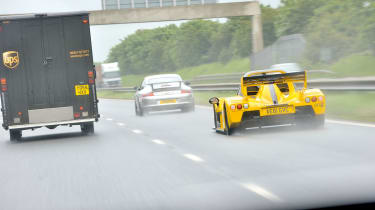 Radical SR3 SL on the Tour Britannia rear rain