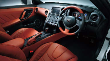 Nissan GT-R 2014 model year red interior