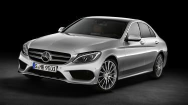 Mercedes C-class silver
