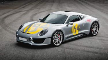 Porsche unseen mid-engined concept - front quarter