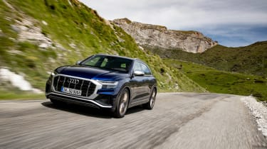 Audi SQ8 TDI review - front quarter