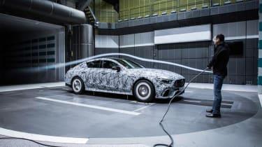 Mercedes-AMG GT four-door wind tunnel testing