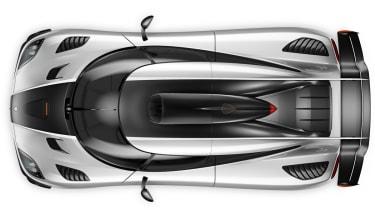 Koenigsegg One:1 supercar overhead view