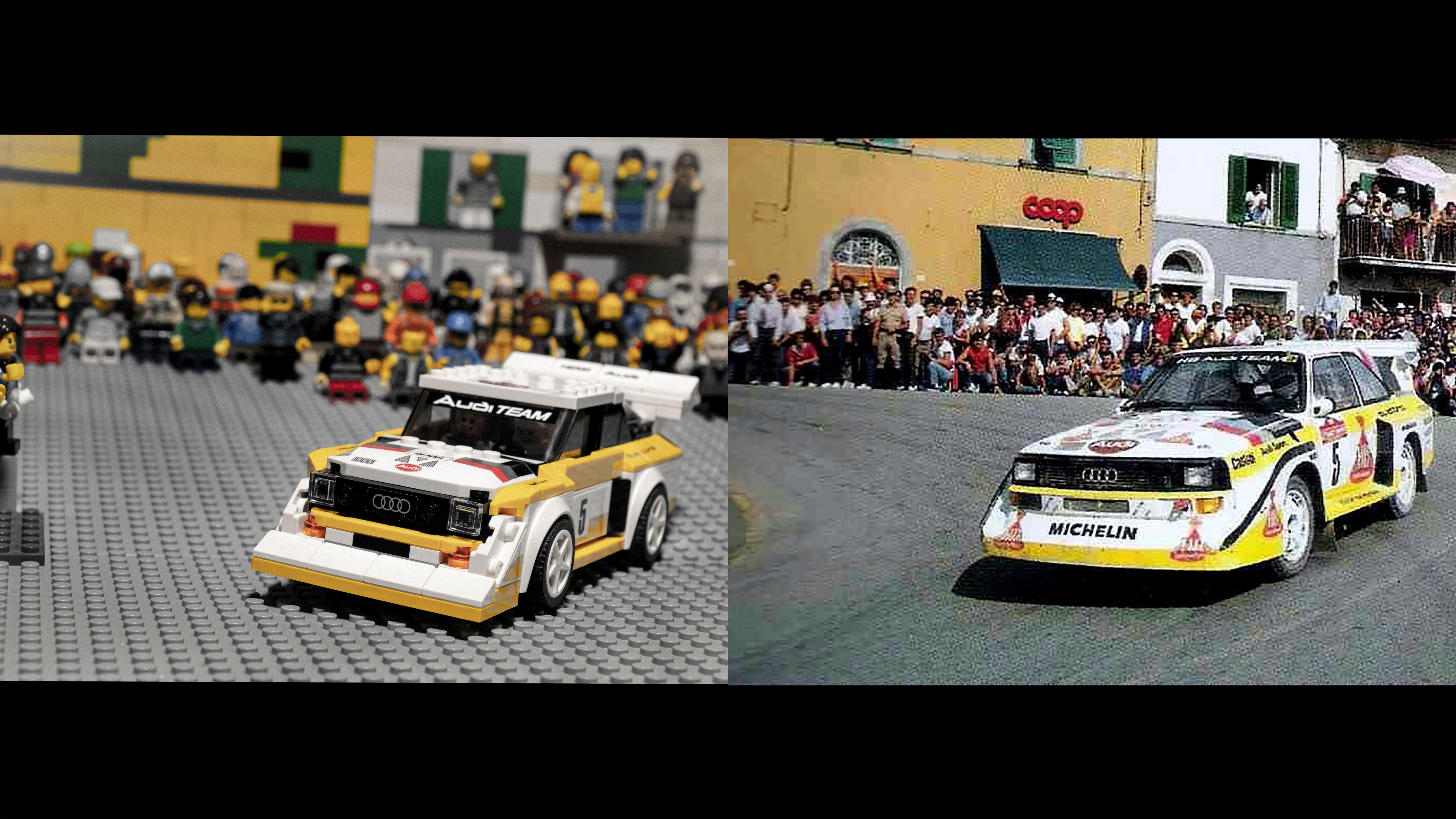 Quarantine Quattro – iconic Audi rally scenes recreated in Lego