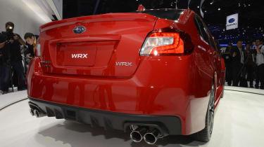 New Subaru WRX red rear