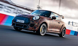 All-electric Mini John Cooper Works front 3/4