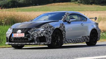 Lexus RC F GT spy - front quarter