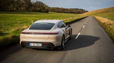 Porsche Taycan rwd - coffee rear traking
