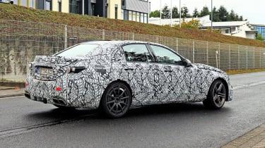 Mercedes-AMG C63 2021 spy - rear quarter