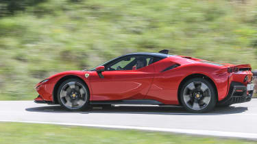 Best hybrid cars 2021 - SF90 side