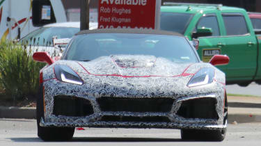 Chevrolet Corvette ZR1 spied - front