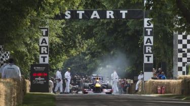 Goodwood Festival of Speed 2014 hillclimb start line