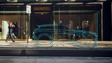 2019 Land Rover Evoque wire frame side