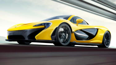 McLaren P1 yellow