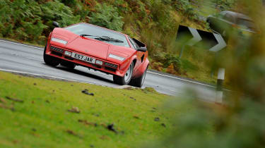 Lamborghini V12 group test Wales - countach silde