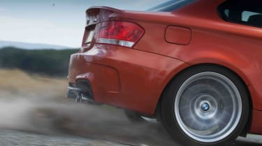 BMW 1M review wheelspin