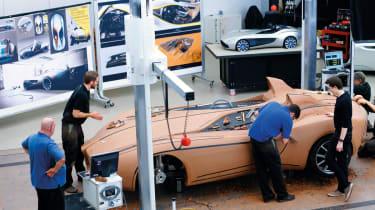 Aston Martin CC100 clay modelling