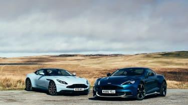 Aston Martin DB11 and Vanquish S