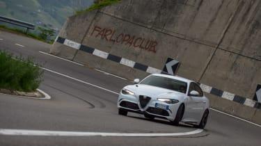 Alfa group test in Italy - sliding italian