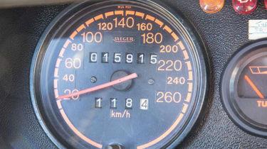 Peugeot 205 T16 PTS Clubman – speedo