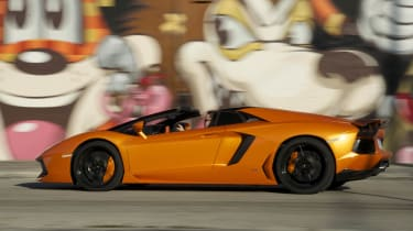 Best convertible cars: Lamborghini Aventador