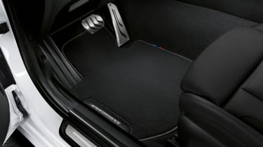 BMW M Performance parts footwell