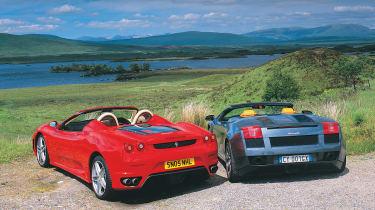 Lambo Spyder vs Ferrari Spider