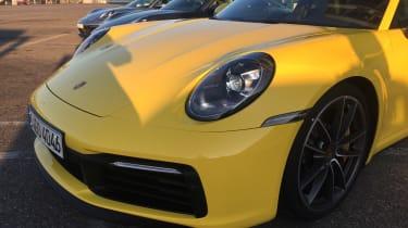 Porsche 911 on location - front lights