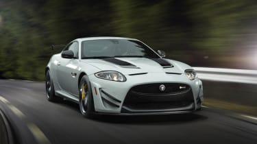 Jaguar XKR-S GT white front