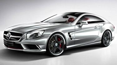 Mercedes SL Shooting Brake silver