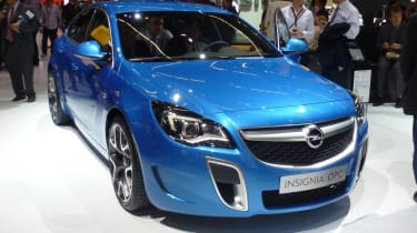 Vauxhall Insignia VXR blue front