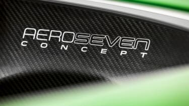 Caterham AeroSeven Concept sports car carbon badge