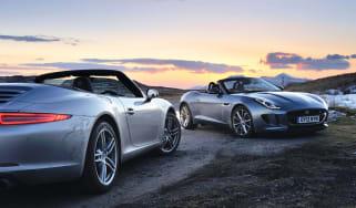 Jaguar F-type V6S v Porsche 911 Cabriolet