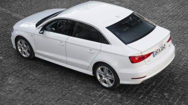 2013 Audi A3 Saloon white rear