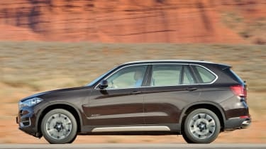 New 2013 BMW X5 brown side profile