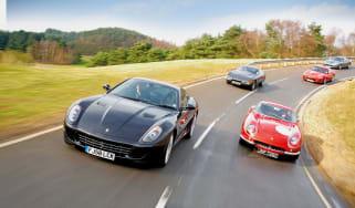 Ferrari 599 GTB vs 275 GTB, Daytona, 550 Maranello and 575M