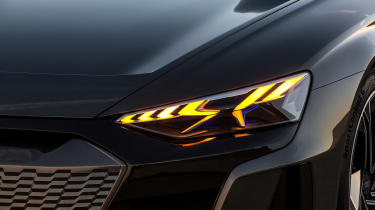 Audi E-tron GT concept teaser - lights