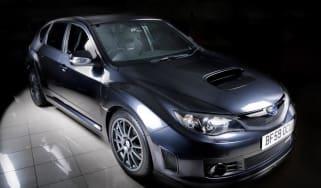 Subaru Impreza Cosworth lit up