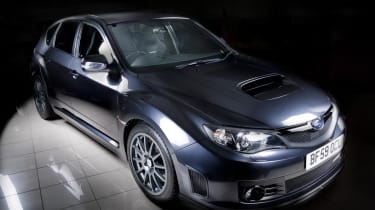 Subaru Impreza Cosworth lit up