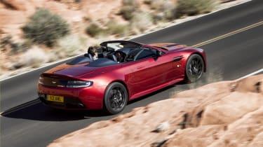 Aston Martin V12 Vantage S Roadster roof down