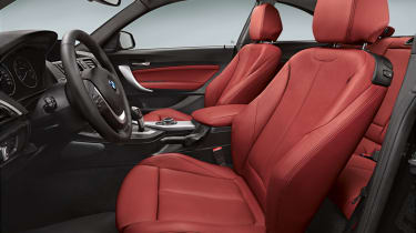 BMW 2-series coupe front seats