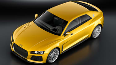 Audi Sport Quattro concept yellow front