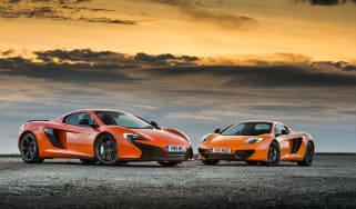 McLaren 650S Spider and 12C Spider