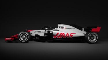 HAAS F1 car - side