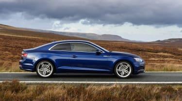 Audi A5 coupe blue - profile