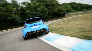 Renault Zoe E-Sport - rear cornering